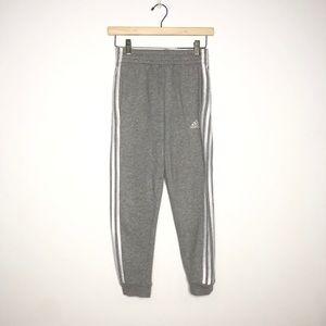 Adidas Medium Gray White Joggers Boys 10-12